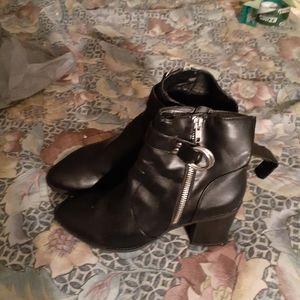 Black big buddah womens zipper boots